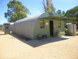 Nissen Hut on display at The Village - Historic Loxton